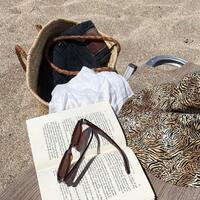 Still Summer 🧡 By @louvills // Hat  by us #sunsetgogirl #beachlife #stillsummer